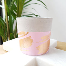 Luxx Copper Foil Concrete Planter