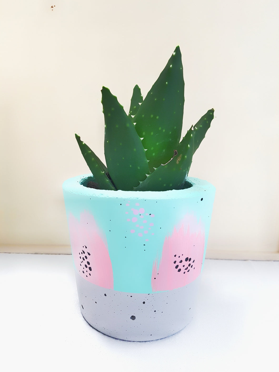 Concrete Planter - Pastel Love