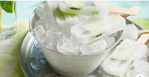 Gin & tonic ice lollies