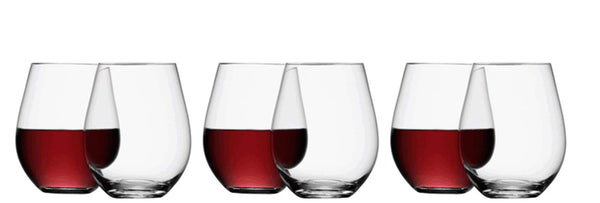 Wine Stemless Red Wine 530ml x 4
