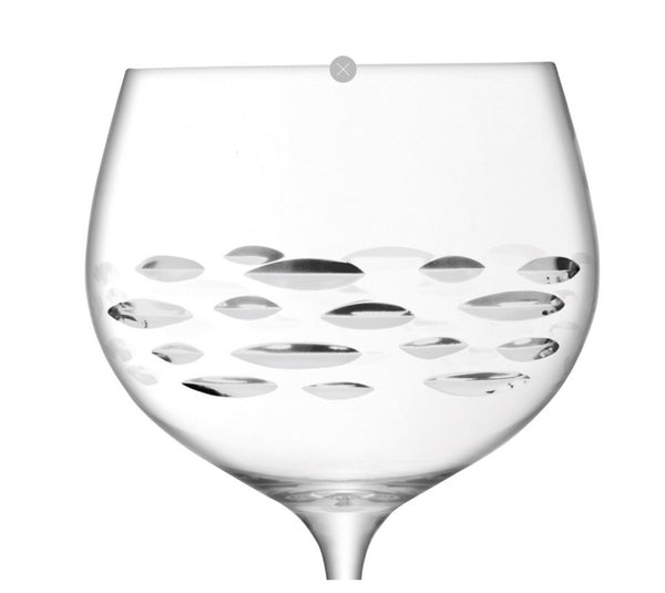 LSA BALLOON Gin Balloon Shoal cut Glass X 2 680ml