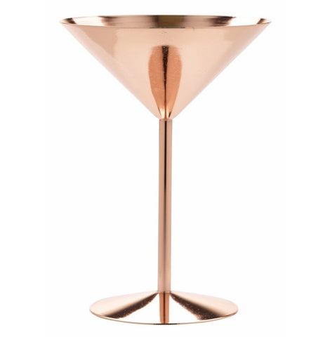 Copper glass martini glass