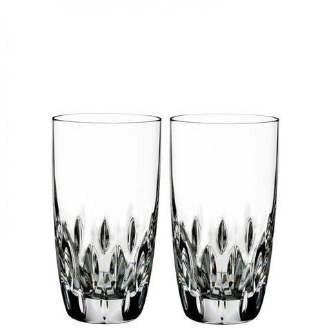 By Waterford Crystal  ; Ardan Collection Enis Hi Ball (Set of 2)