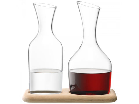 Carafe of water and carafe of wine