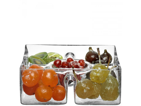 Square glass serving platter