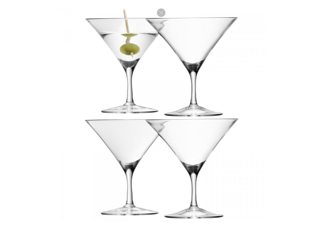 BAR Martini Glass X 4 180ml
