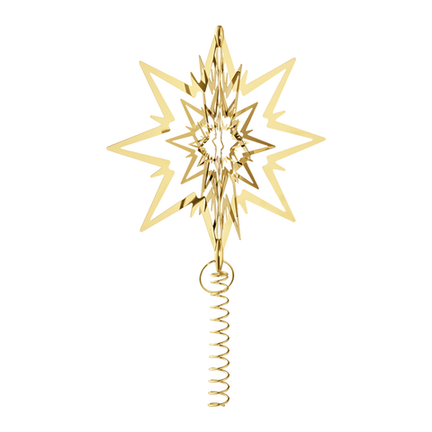 STAR FOR THE CHRISTMAS TREE, MEDIUM, GOLD PLATED £75.00