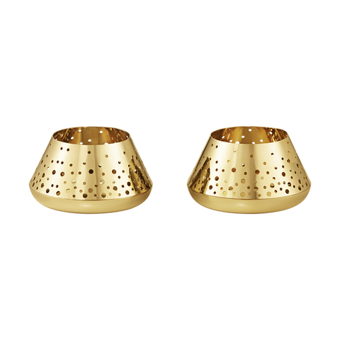 Georg Jensen 2017 TEALIGHT SET, GOLD PLATED