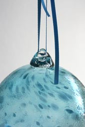 Artist collection ; Christmas bauble Hand blown hollow glass bauble for hanging