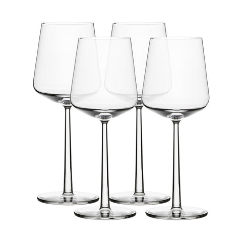 Set of four wine glasses
