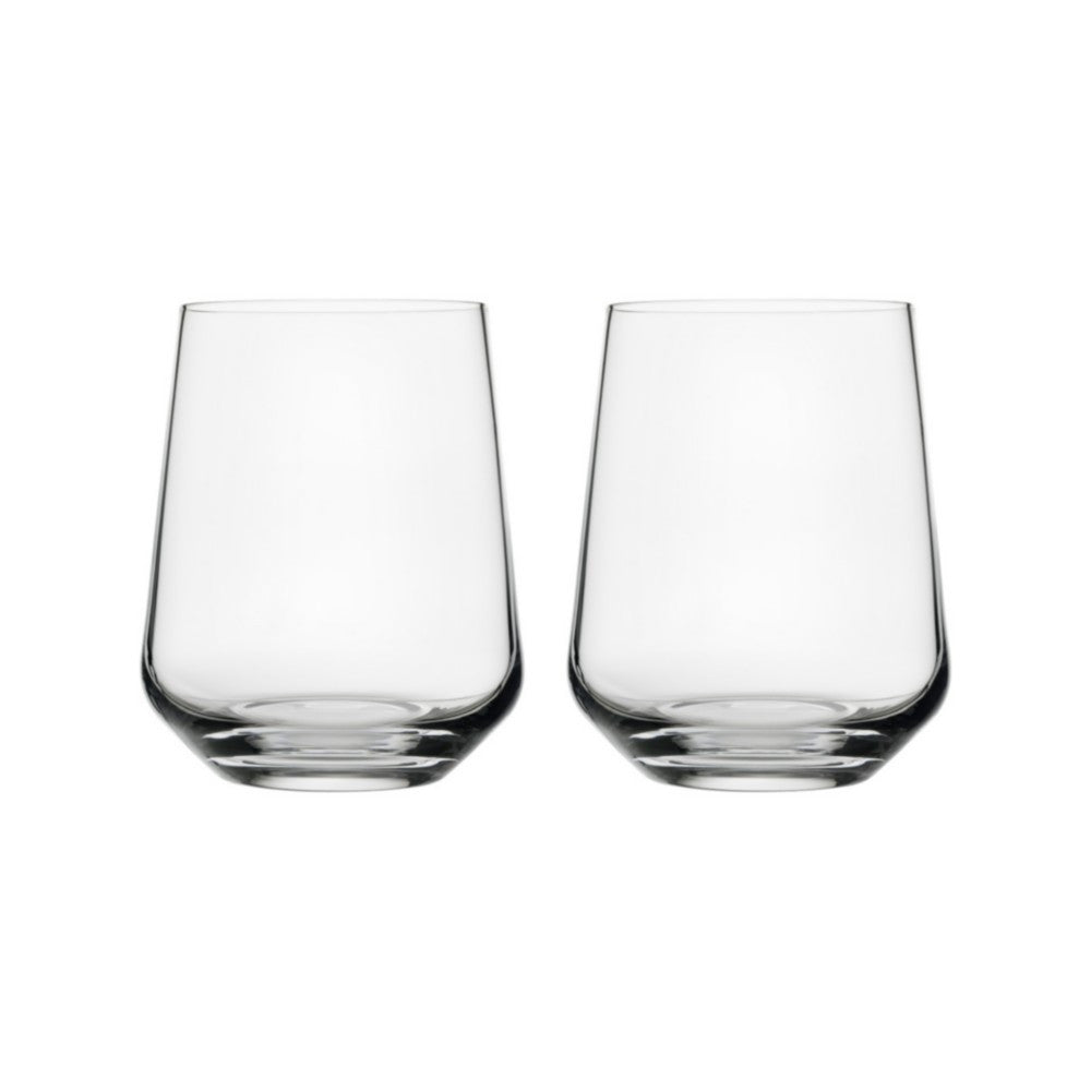 Set of two glass tumblers