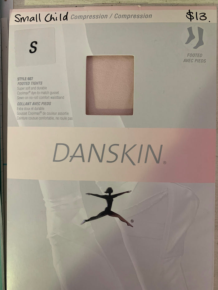 Danskin 607 girls footed tights Theatrical Pink