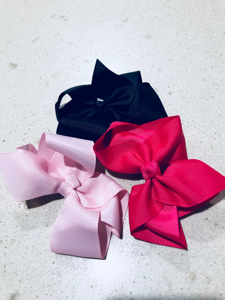 Hair bows 3 colours