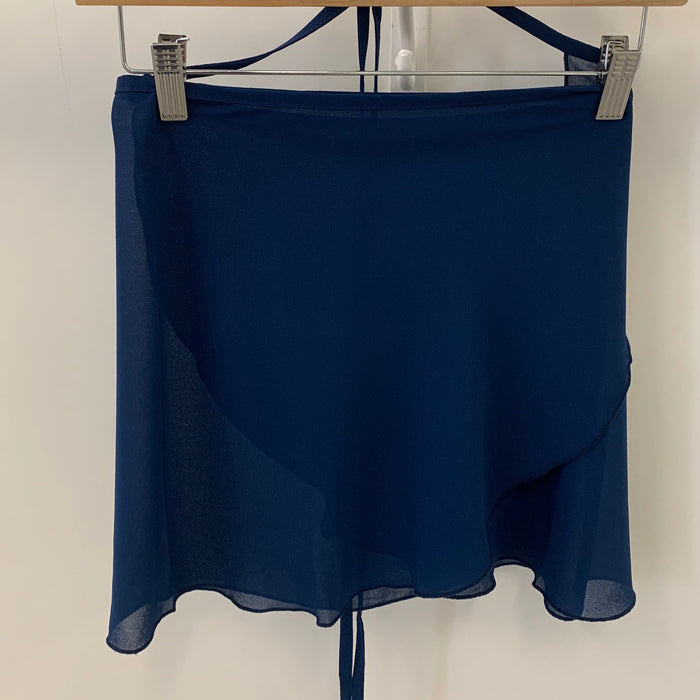 Georgette Wrap Skirt - Navy