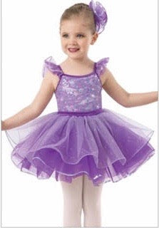 Purple floppy tutu