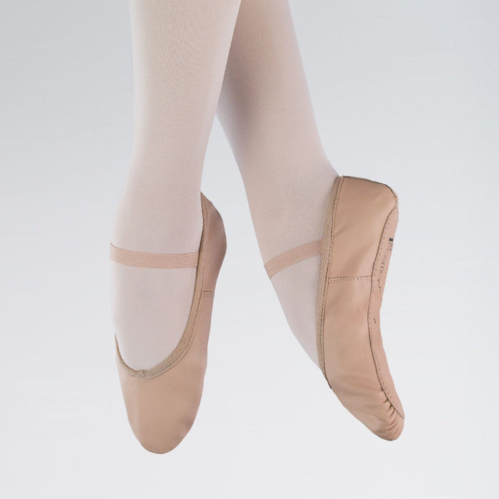 1st Position Leather Full-Sole Ballet Shoes Pink