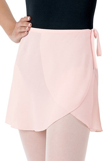 Child's Georgette Wrap Skirt Pale Pink $25
