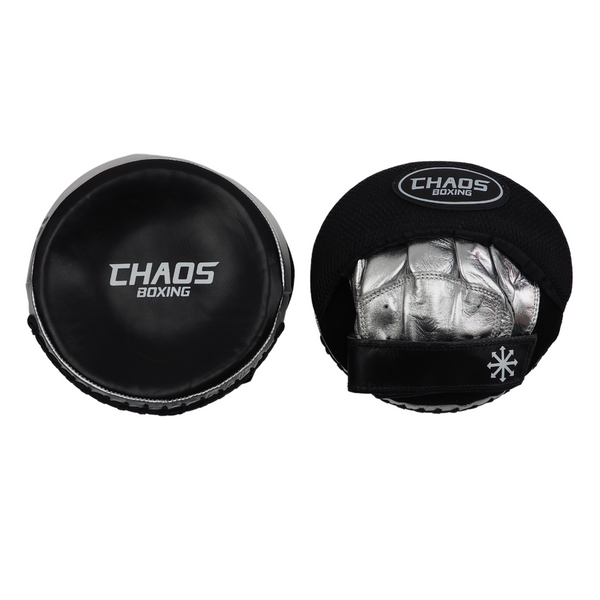Gel Tech Speed Mitts Black & Silver - CHAOS BOXING
