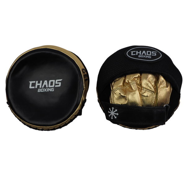 Gel Tech Speed Mitts Black & Gold - CHAOS BOXING