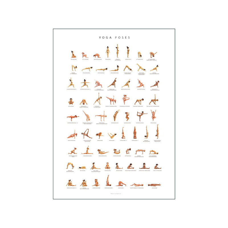 Yoga poses plakat - dimsstudio