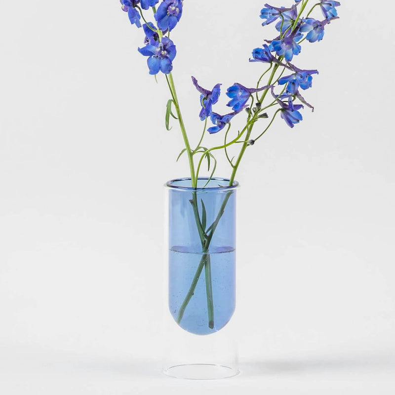 Tube Vase - Low Tube - Blue