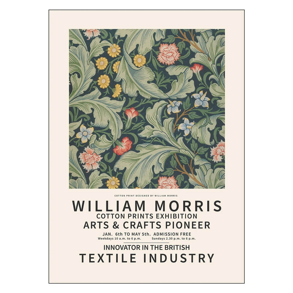 William Morris Cotton Prints Exhibition - 50x70