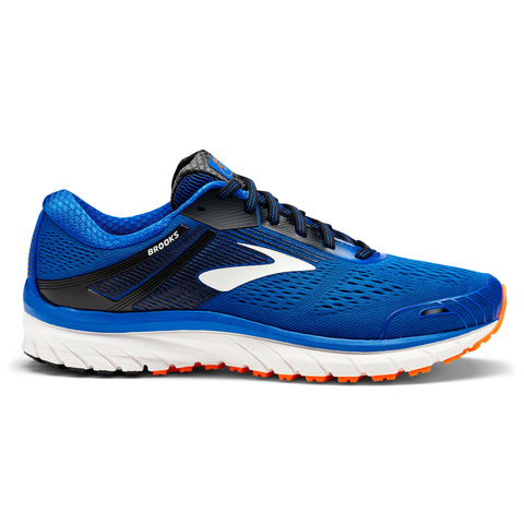 Blue, black and orange men's Brooks Adrenaline GTS 18 running shoes