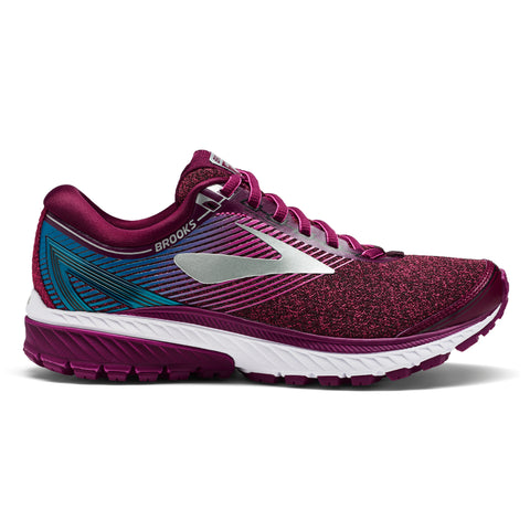 Purple, pink and Teal Brooks Ghost 10 Running Shoes