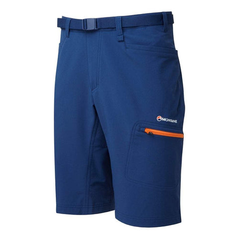 Blue Mens Montane Dyno Stretch Shorts - Helix Sport