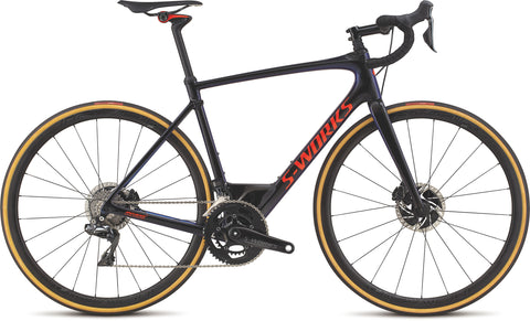 S-Works Roubaix Dura-Ace Di2 Men's Bike in Gloss Tarmac Black / Chameleon Edge Fade / Rocket Red / Clean