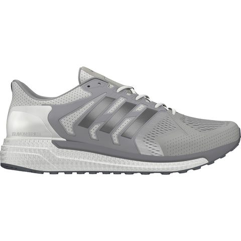 White and silver Adiads Supernova ST men's running shoes
