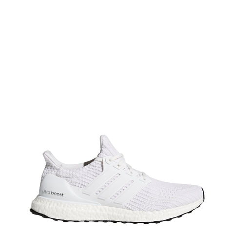 Men's Adidas White Ultraboost Running Shoes, side view