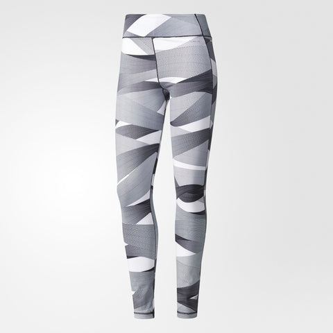 Patterned ultimate women's running tights from Adidas