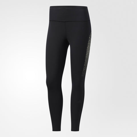 Black 7/8th Running Tights from Adidas