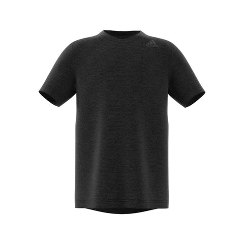 Adidas Boys Training Tee with contoured fit, Carbon CF7149 front view
