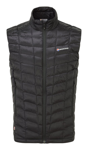 Black Sleeveless Montane Men's Synthetic Insulation Hi Q Luxe Vest - Helix Sport