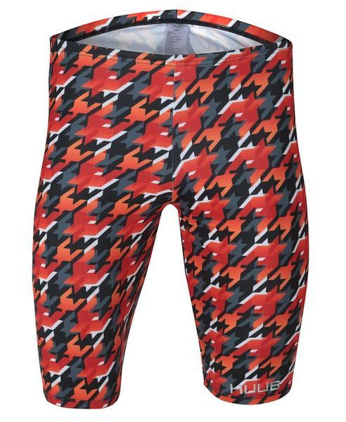 Red, Orange & Black Huub Training Houndstooth Men's Jammer - Helix Sport