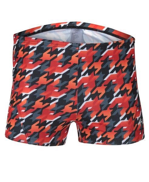 Short Orange, Red & Black Huub Training Houndstooth Men's Swimming Trunks - Helix Sport