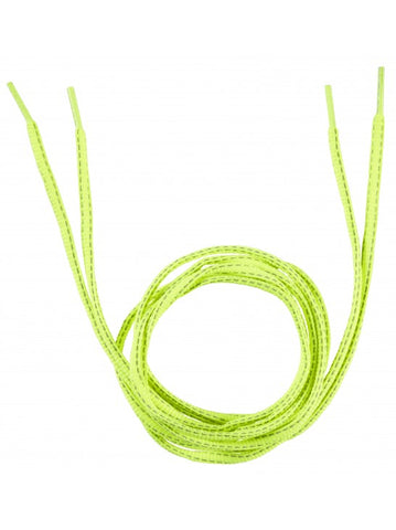 Yellow Fluoro shoe laces with reflective properties from Ronhill
