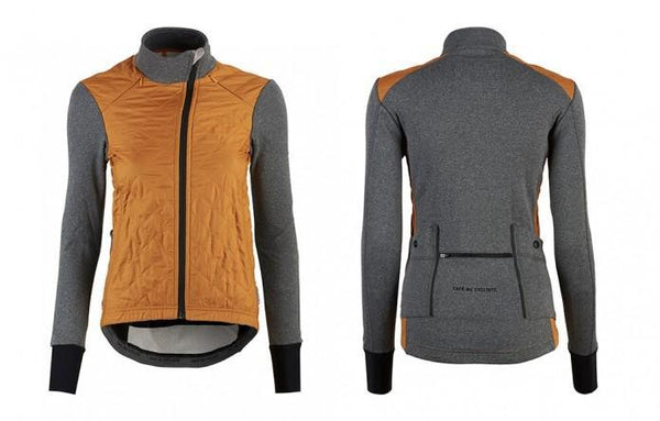 Front and back images of cumin Heidi windproof, breathable jacket