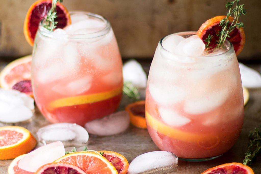 Sparkling citrus thyme punch recipe via My diary of us