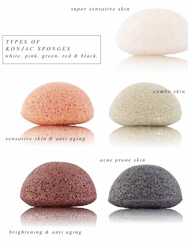 Types of Konjac sponges