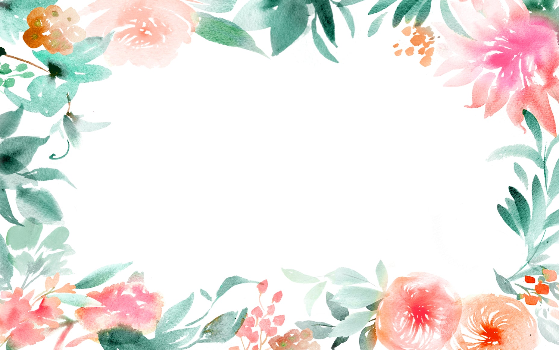 Watercolor Floral Boarder by Julie Song.php