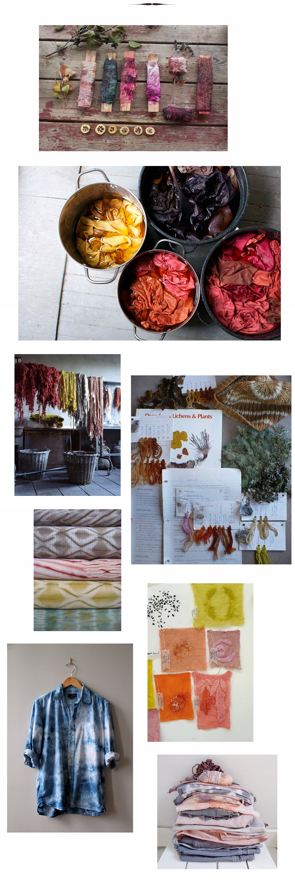 natural dye inspirations