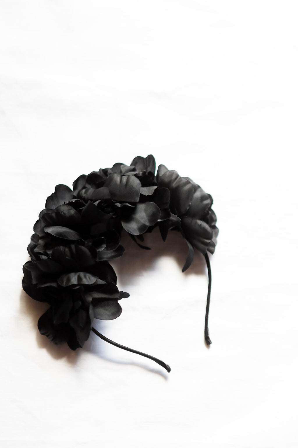 Black Roses Flower Crown
