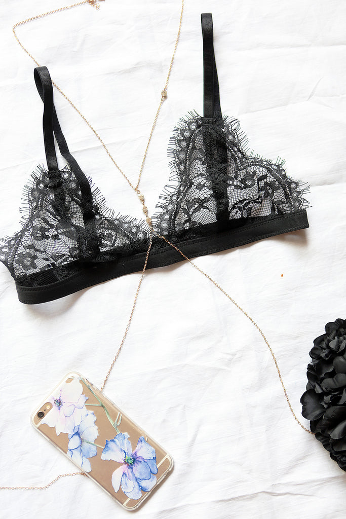 Lovely Black Lace Bralette