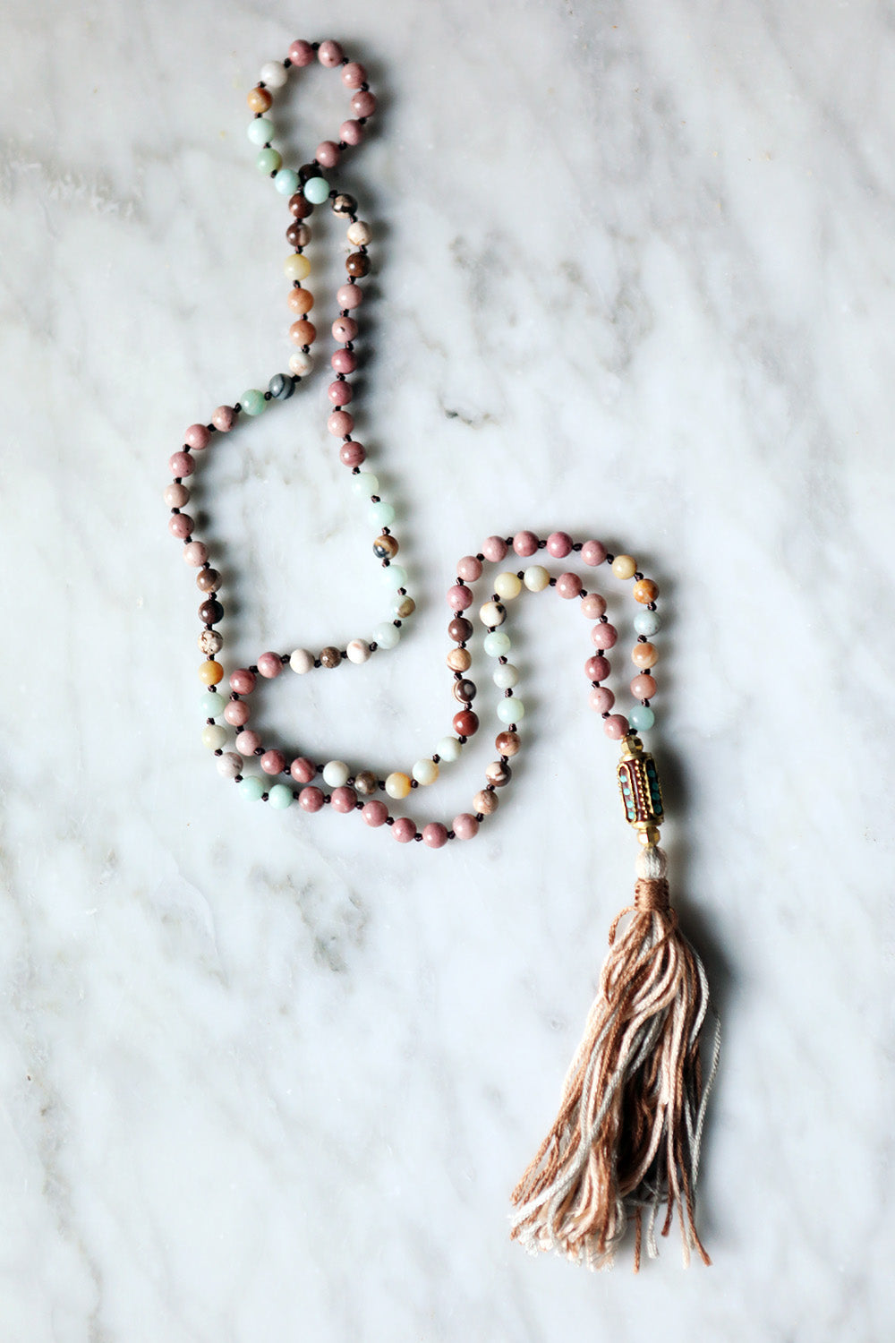 Inspi 1970s Buddhist prayer stones malas
