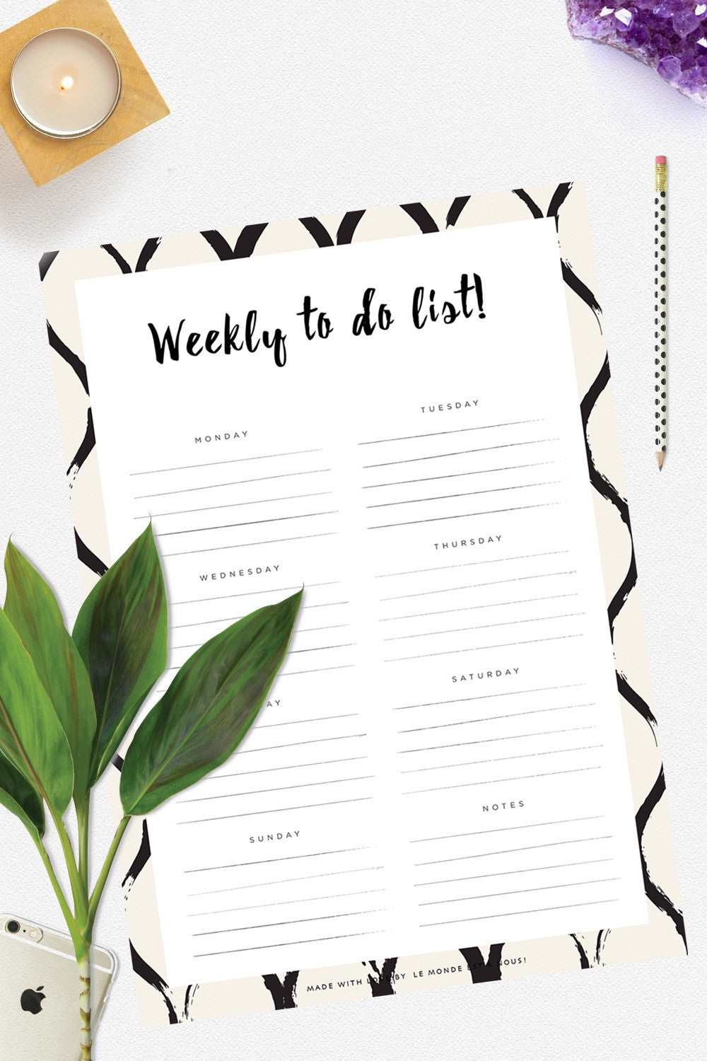 Weekly To do list!