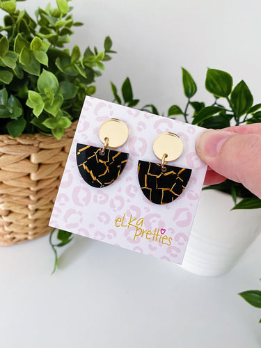 Mini Luna Drops - Black Tiger / Gold Mirror