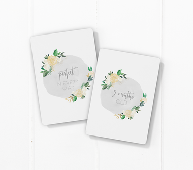 Toucan Antique Bloom Baby Milestone Cards